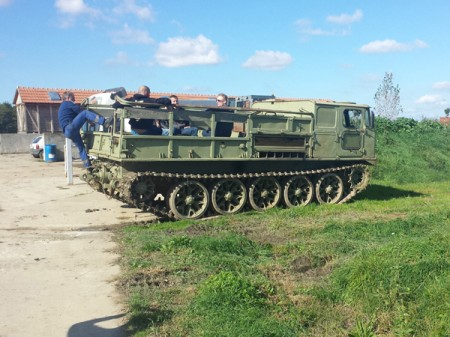 Driving a tank in Belgrade