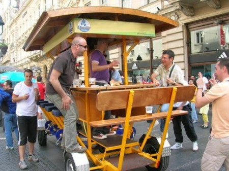 Beer bar bike in Belgrade