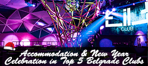 Accommodation & New Year Celebration in Top 5 Belgrade Clubs